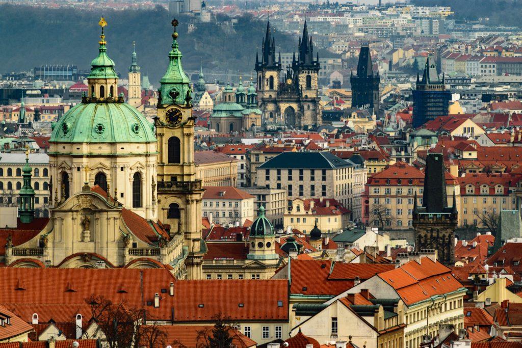 panorama sur la vielle ville de Prague