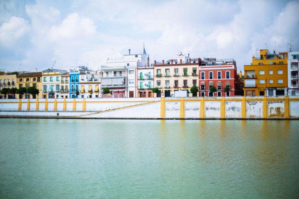 maisons colorées, Séville
