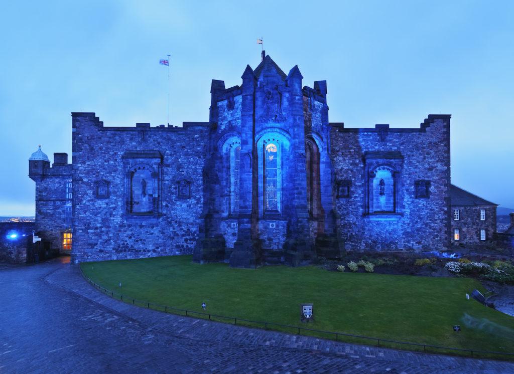 Château d'Edimbourg la nuit